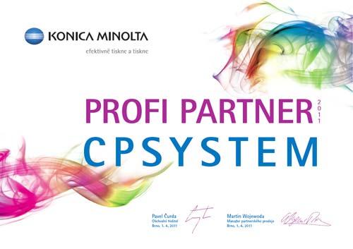Certifikát Konica Minolta