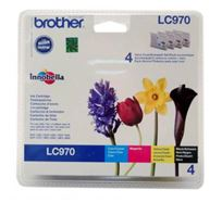 Inkoustová cartridge Brother DCP-135C, 150C, MFC-235C, 260C, LC-970VALBP, CMYK, 300s, O
