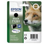 Inkoustová cartridge Epson Stylus S22/SX125/420W/425W, Stylus Office BX305F, C13T12814021, černá, T1281, 5,9 ml, DURABrite, O