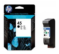 Inkoustová cartridge HP DeskJet 850, 970Cxi, 1100, 1200, 1600, 6122, 6127, 51645GE, black, No.45, 21ml, O