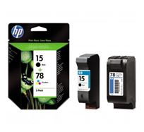 Inkoustová cartridge HP 2-Pack, C6615DE + C6578DE, SA310AE, black/color, No.15 + No.78, 25/19ml, 603/450s, O