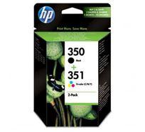 Inkoustová cartridge HP 2-Pack, CB335EE + CB337EE, SD412EE, black/color, No.350 + No.351, 200/170s, O